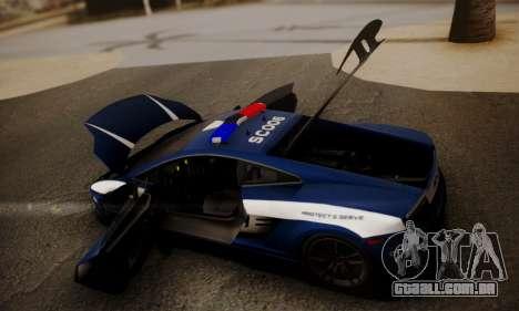 Lamborghini Gallardo LP 570-4 2011 Police v2 para GTA San Andreas