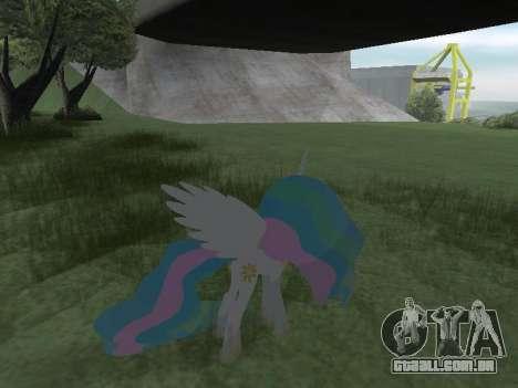 Princess Celestia para GTA San Andreas oitavo tela