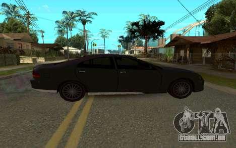 HSV VT GTS para GTA San Andreas traseira esquerda vista