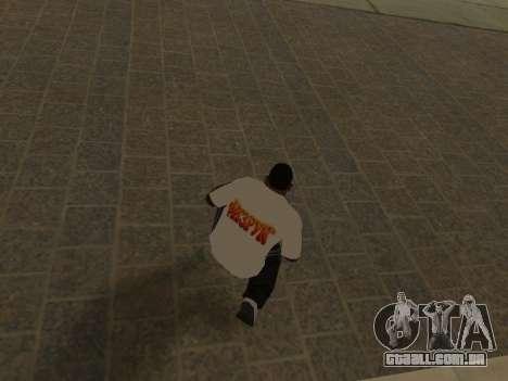 T-Shirt Professor para GTA San Andreas por diante tela