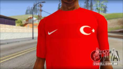 Turkish Football Uniform v4 para GTA San Andreas terceira tela