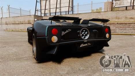 Pagani Zonda C12S Roadster 2001 v1.1 PJ3 para GTA 4 traseira esquerda vista