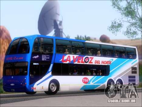 Metalsur Starbus DP 1 6x2 - La Veloz del Norte para GTA San Andreas vista traseira