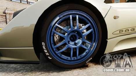 Pagani Zonda C12S Roadster 2001 v1.1 PJ1 para GTA 4 vista de volta