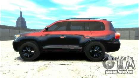 Toyota Land Cruiser 200 2013 para GTA 4 esquerda vista