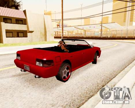Sultan Conversível para GTA San Andreas traseira esquerda vista