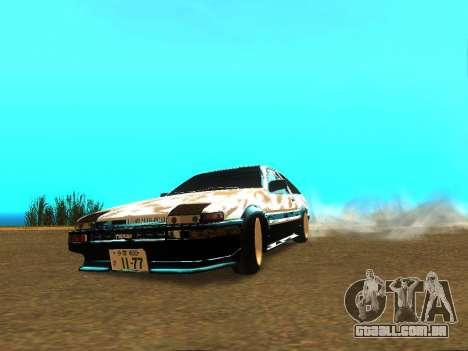 Toyota Corolla AE86 Trueno JDM para GTA San Andreas vista direita