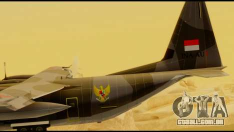 C-130 Hercules Indonesia Air Force para GTA San Andreas traseira esquerda vista