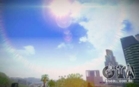 FIXED SkyBox Arrange - Real Clouds and Stars para GTA San Andreas por diante tela