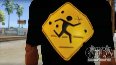 Running With Scissors T-Shirt para GTA San Andreas terceira tela