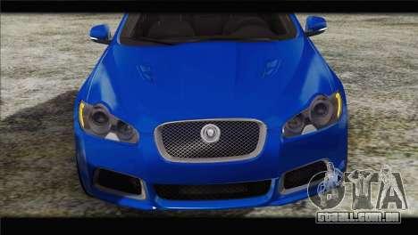 Jaguar XFR v1.0 2011 para GTA San Andreas vista traseira