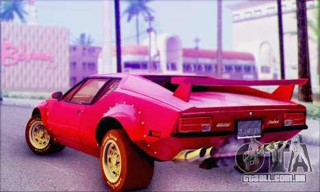 De Tomaso Pantera para GTA San Andreas esquerda vista