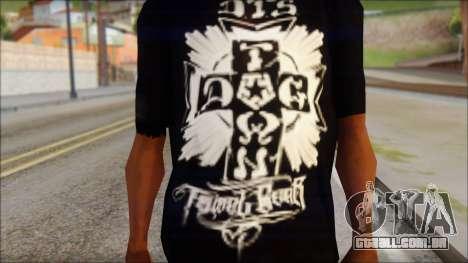 Tribal DOG Town T-Shirt Black para GTA San Andreas terceira tela