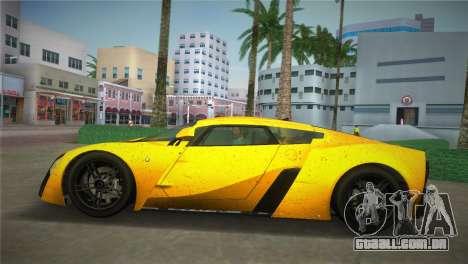 Marussia B2 2010 para GTA Vice City vista traseira esquerda