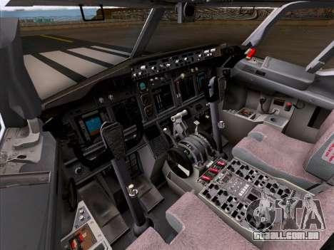 Boeing 737-800 Qantas para as rodas de GTA San Andreas