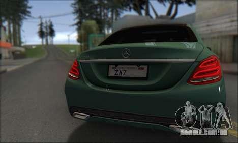 Mercedes-Benz C250 V1.0 2014 para GTA San Andreas vista interior
