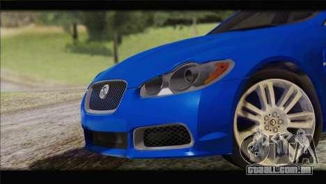 Jaguar XFR v1.0 2011 para GTA San Andreas traseira esquerda vista