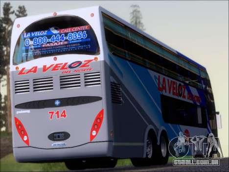 Metalsur Starbus DP 1 6x2 - La Veloz del Norte para GTA San Andreas