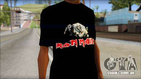 Iron Maiden T-Shirt para GTA San Andreas terceira tela