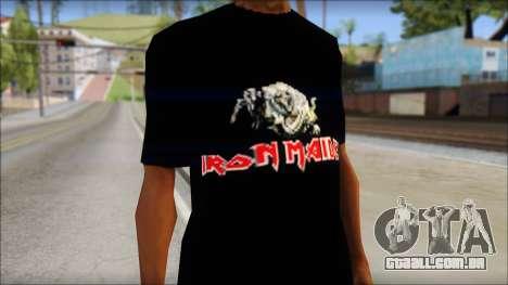 Iron Maiden T-Shirt para GTA San Andreas terceira tela
