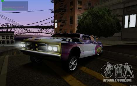 O trabalho da pintura para Slamvan MLP Fluttersh para GTA San Andreas vista direita