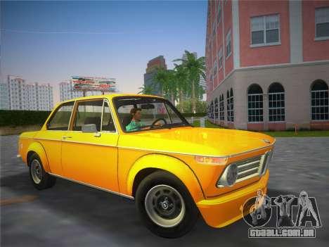 BMW 2002 Tii (E10) 1973 para GTA Vice City vista traseira esquerda