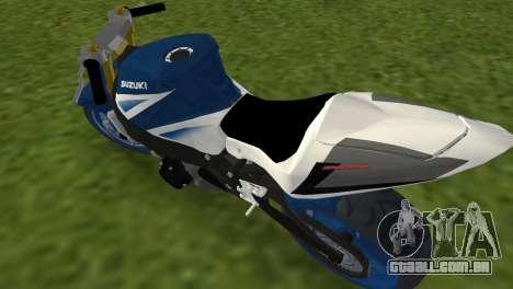 Suzuki GSX-R 1000 StreetFighter para GTA Vice City vista traseira esquerda