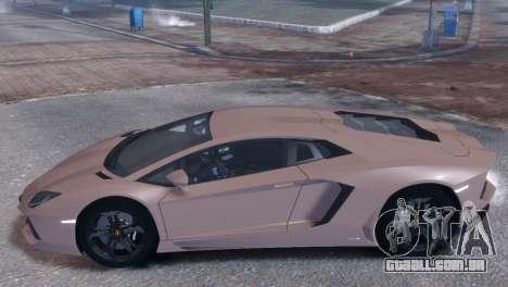 Lamborghini Aventador LP700-4 para GTA 4 traseira esquerda vista