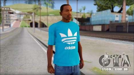 Blue Adidas Shirt para GTA San Andreas