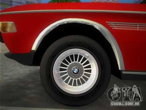 BMW 3.0 CSL 1971 para GTA Vice City vista traseira esquerda