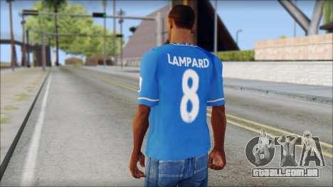 Chelsea FC 12-13 Home Jersey para GTA San Andreas segunda tela