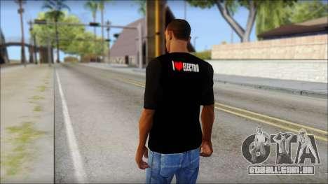 I Love Electro T-Shirt para GTA San Andreas segunda tela
