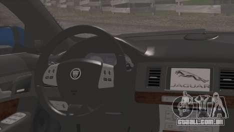 Jaguar XFR v1.0 2011 para GTA San Andreas vista direita