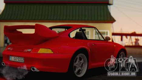 Porsche 911 GT2 (993) 1995 V1.0 EU Plate para GTA San Andreas esquerda vista