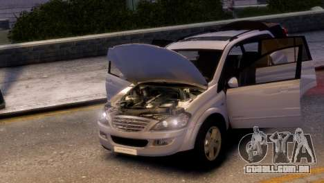 SsangYong Kyron para GTA 4 traseira esquerda vista
