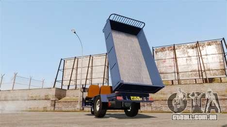 Agrícola triciclo para GTA 4 vista de volta