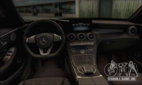 Mercedes-Benz C250 V1.0 2014 para GTA San Andreas vista superior