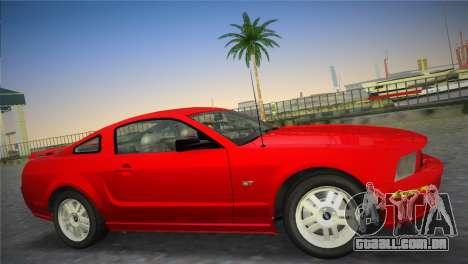 Ford Mustang GT 2005 para GTA Vice City deixou vista
