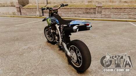 Yamaha YZF-450 v1.8 para GTA 4 traseira esquerda vista