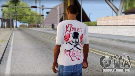 Bullet For My Valentine White Fan T-Shirt para GTA San Andreas segunda tela