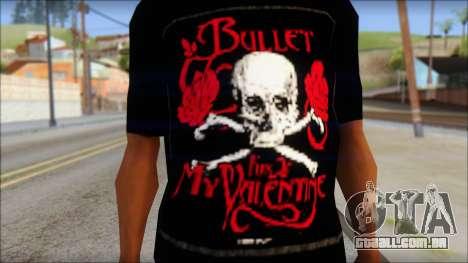 Bullet for my Valentine Fan T-Shirt para GTA San Andreas terceira tela