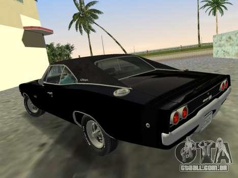 Dodge Charger RT 426 1968 para GTA Vice City deixou vista