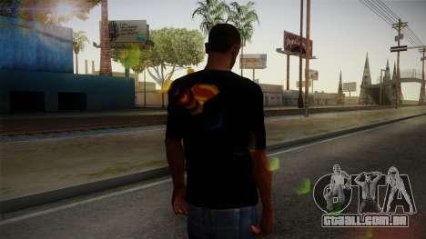Man of Steel T-Shirt para GTA San Andreas segunda tela
