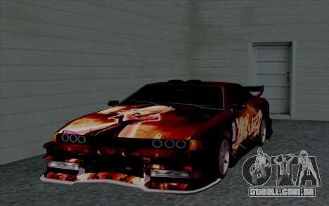 O trabalho da pintura para a Yakuza Elegia para GTA San Andreas vista interior
