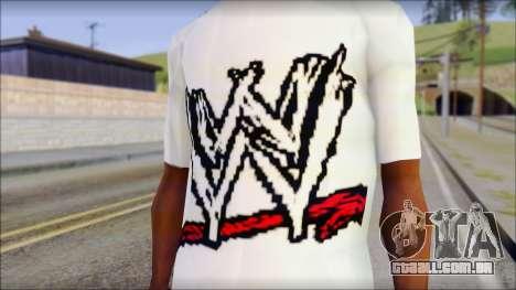 WWE Logo T-Shirt mod v1 para GTA San Andreas terceira tela