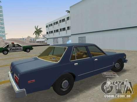 Dodge Aspen 1979 para GTA Vice City deixou vista