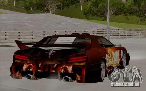 O trabalho da pintura para a Yakuza Elegia para GTA San Andreas esquerda vista