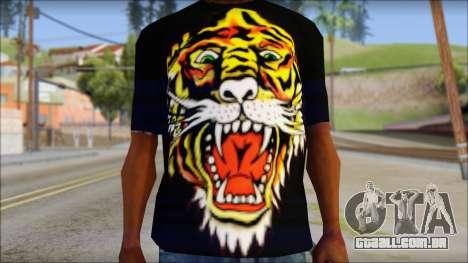 Ed Hardy Lion T-Shirt para GTA San Andreas terceira tela