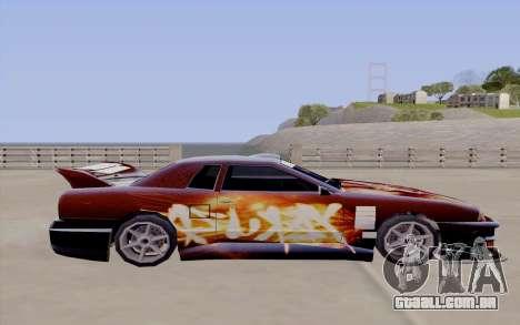 O trabalho da pintura para a Yakuza Elegia para GTA San Andreas vista traseira
