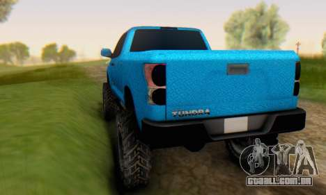 Toyota Tundra OFF Road Tuning Blue Star para GTA San Andreas vista direita